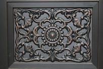 铜雕花卉纹方形图案