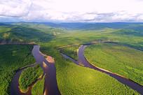 大兴安岭森林河流