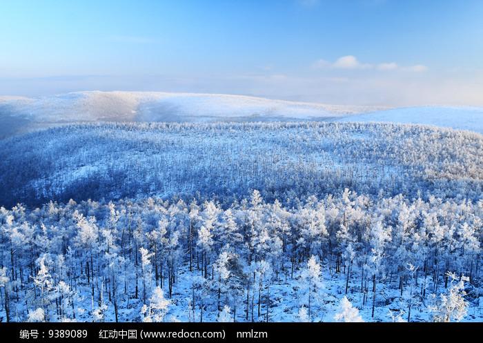 大兴安岭山林雾凇图片