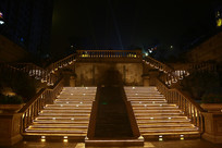 公园台地楼体灯光布置
