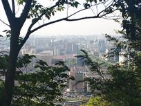 俯瞰的杭州一角