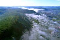 雾漫森林小镇