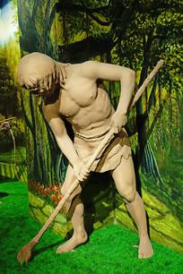 古代番禺先民农业生产雕塑