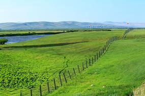 边境地区绿色原野