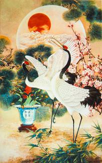松竹梅传统绘画艺术