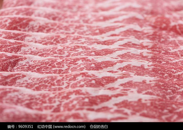 雪花牛肉片图片