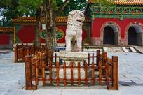 清福陵正红门广场母石狮正面