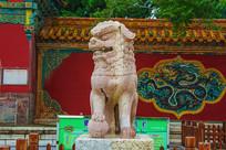沈阳清福陵正红门公石狮正面