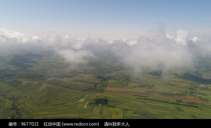 大气航拍张北草原图片
