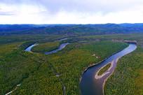 林海河流风光