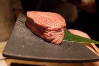 一块雪花牛肉