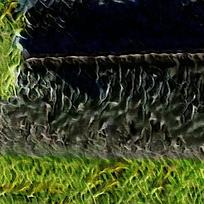 抽象草地火焰油画海报