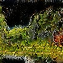 抽象森林火焰油画海报