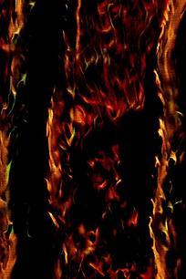 大气简约火焰海报背景