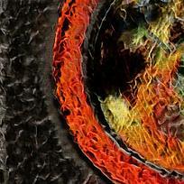 炫酷火焰底纹装饰背景墙