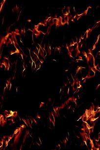 炫酷特写火焰海报