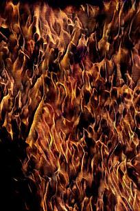 时尚金色火焰底纹海报