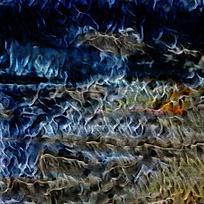 时尚蓝色火焰底纹