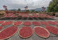 一盘盘的红辣椒