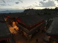 俯瞰丽江古城