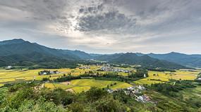 远眺黟县柯村盆地