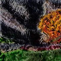 抽象大气天空装饰油画