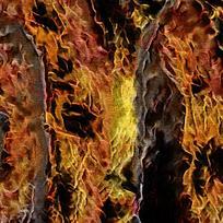 抽象飞翔火鸟装的火焰油画