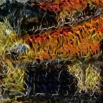 抽象燃烧的宫殿装饰油画