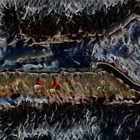 北欧风景抽象油画装饰画