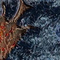 北欧复古抽象油画装饰画