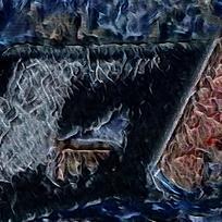 北欧简约抽象油画
