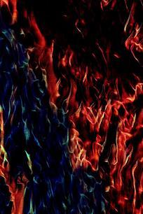 炫彩冷暖火焰背景图片