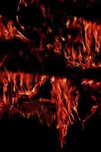 抽象艺境火焰背景图片