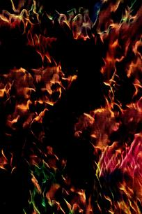 冷暖混合火焰背景图片