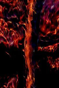 时尚喷射烈焰壁画背景