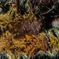 抽象造型火焰底纹油画