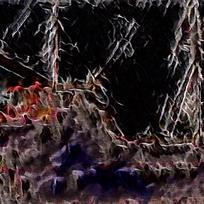 典雅抽象火焰装饰油画