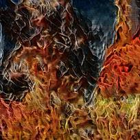 梦幻抽象艺术火焰背景