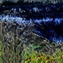 梦幻火焰背景抽象油画