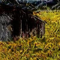 唯美抽象火焰油画背景