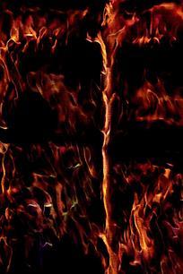 创意飞腾火焰底纹背景