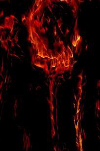创意一团烈火背景图案