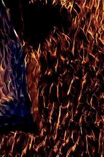 酷炫黑金火焰底纹背景