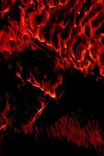 酷炫红色蔓延火焰背景