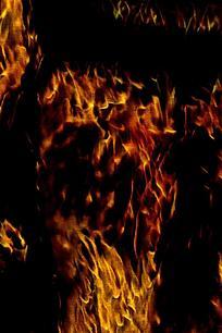 奢华金色火焰底纹背景
