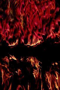 时尚抽象火焰底纹背景