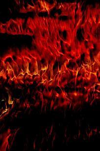 时尚火焰爆裂背景图案