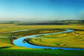 呼伦贝尔草原太极湾