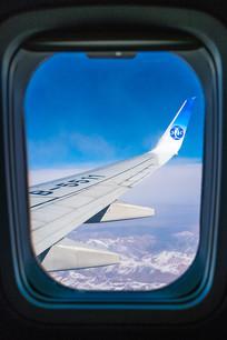 高空飞机窗外