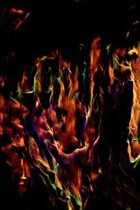 抽象炫彩火焰底纹背景